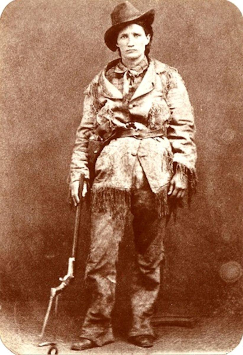 Calamity Jane with gun.