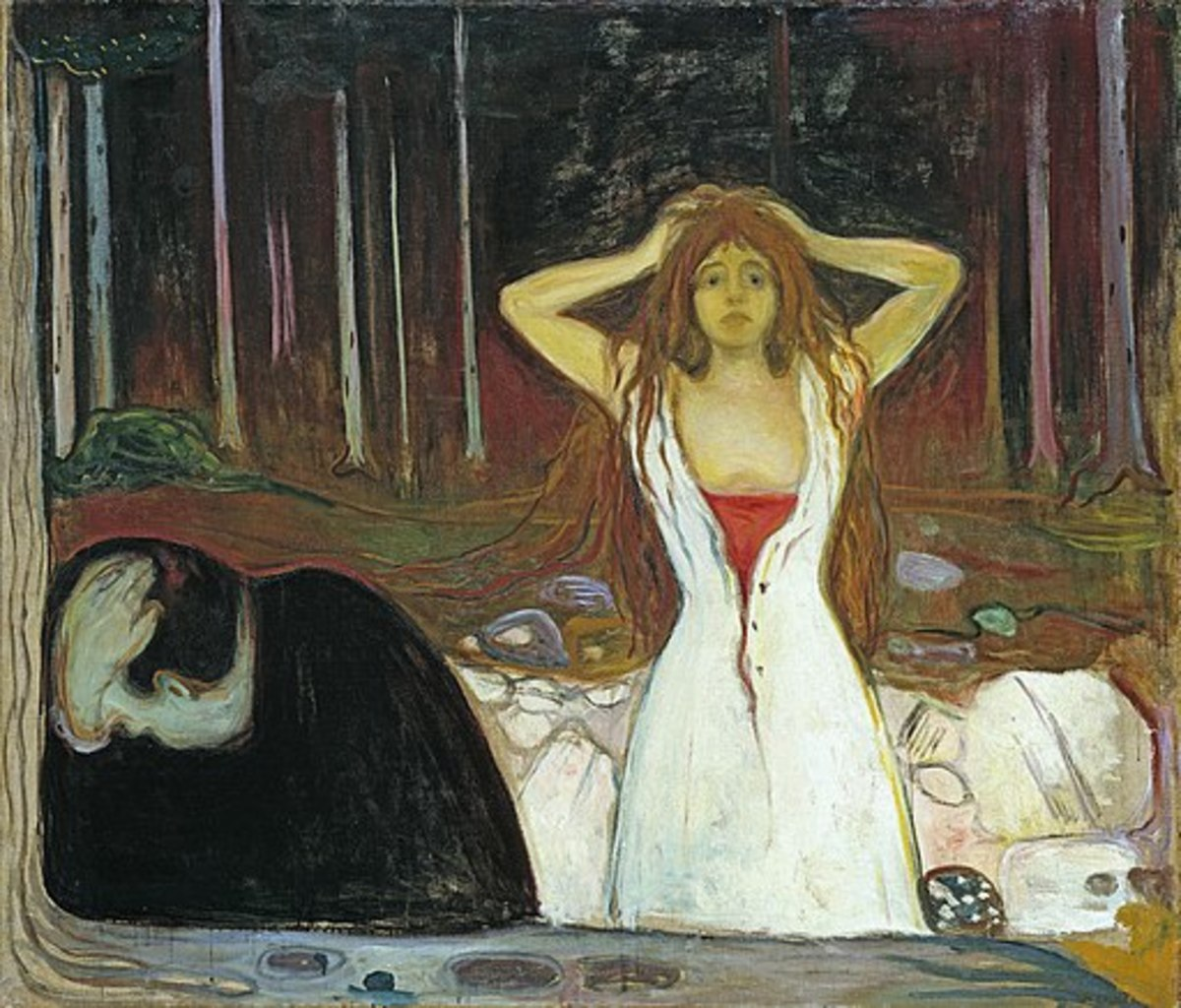 "(Figure 2) Edvard Munch, ""Ashes"" (1895)"