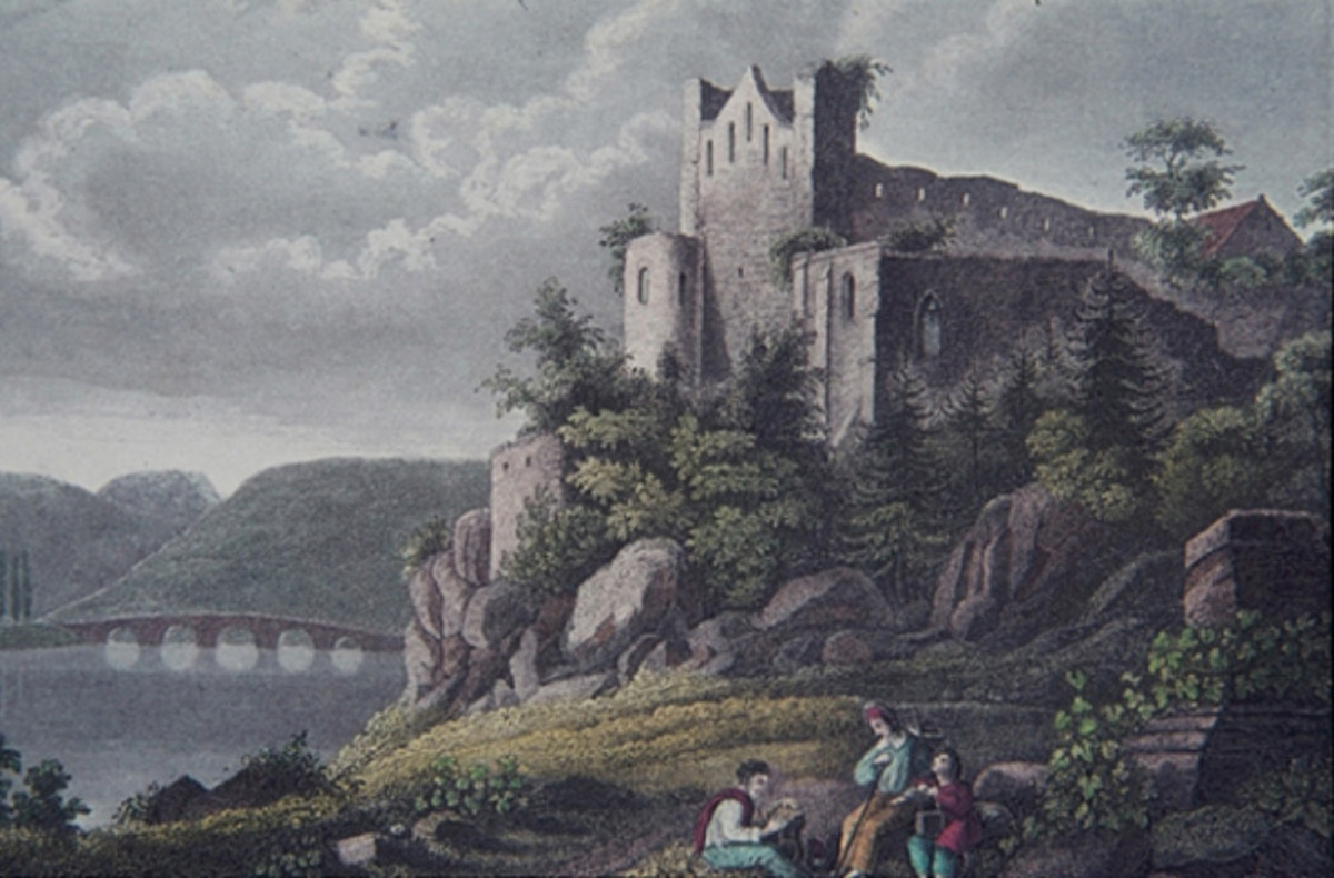 Ruins of the Rupertsberg Monastery.