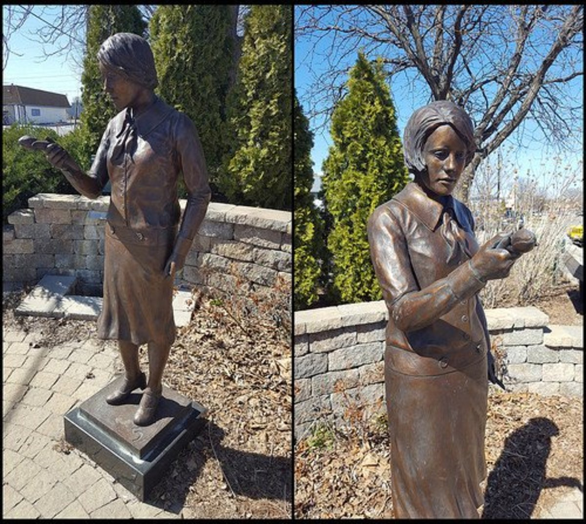 This statue was erected in Ottawa, Illinois in 2011 to honour the Radium Girls.