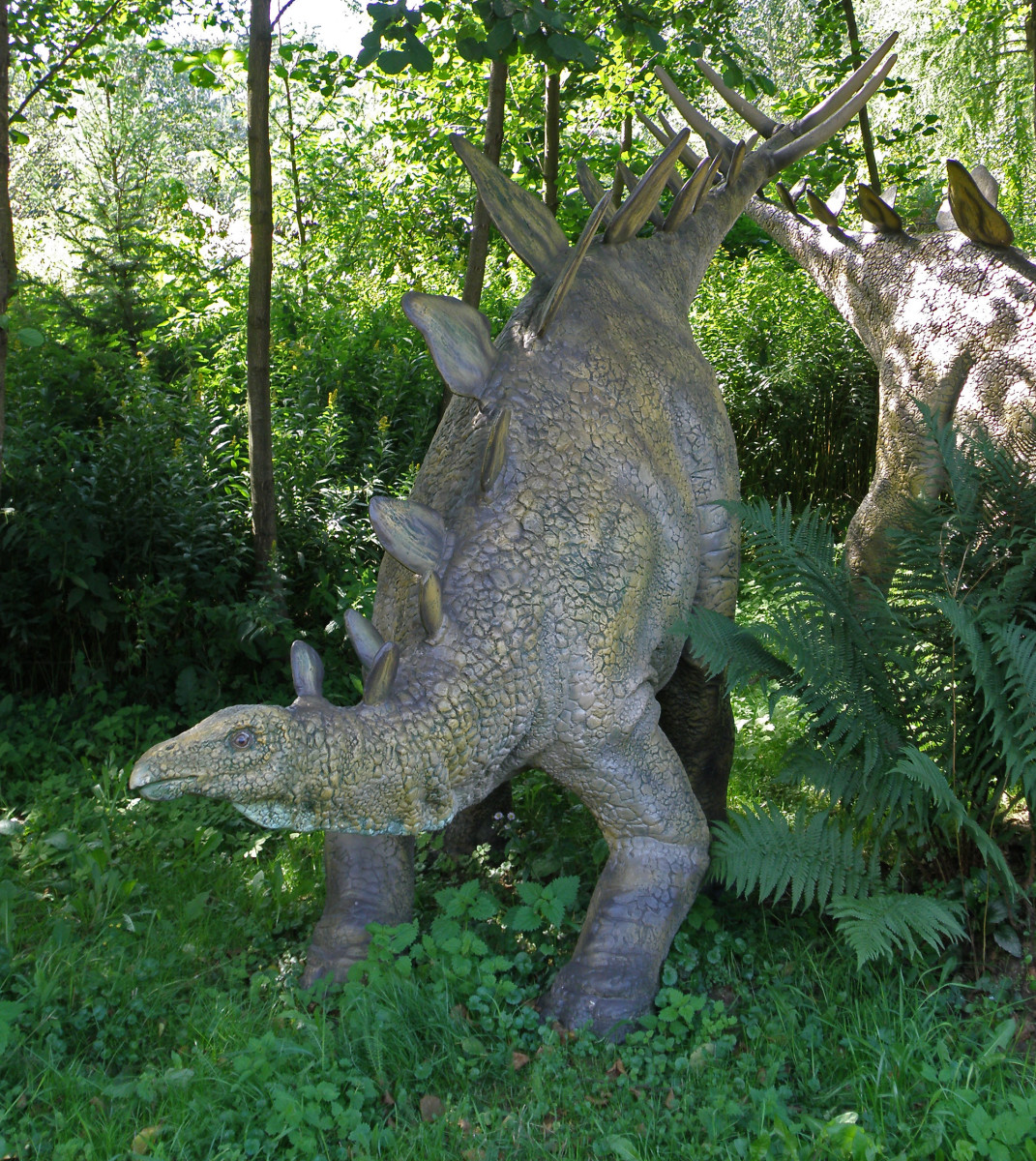 Model of stegosaurus in Bałtów Jurassic Park, Bałtów, Poland