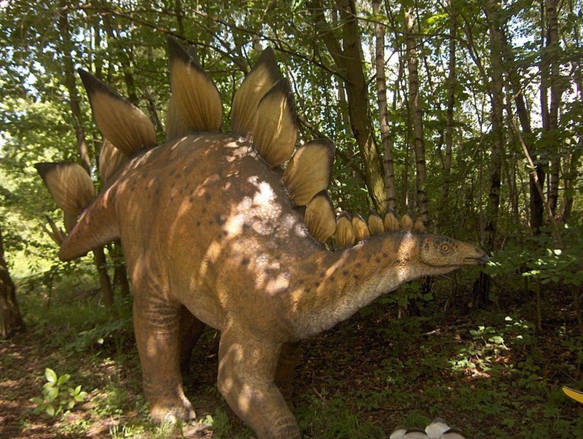 Model of a Stegosaurus in Dino-Park Münchehagen (Niedersachsen)