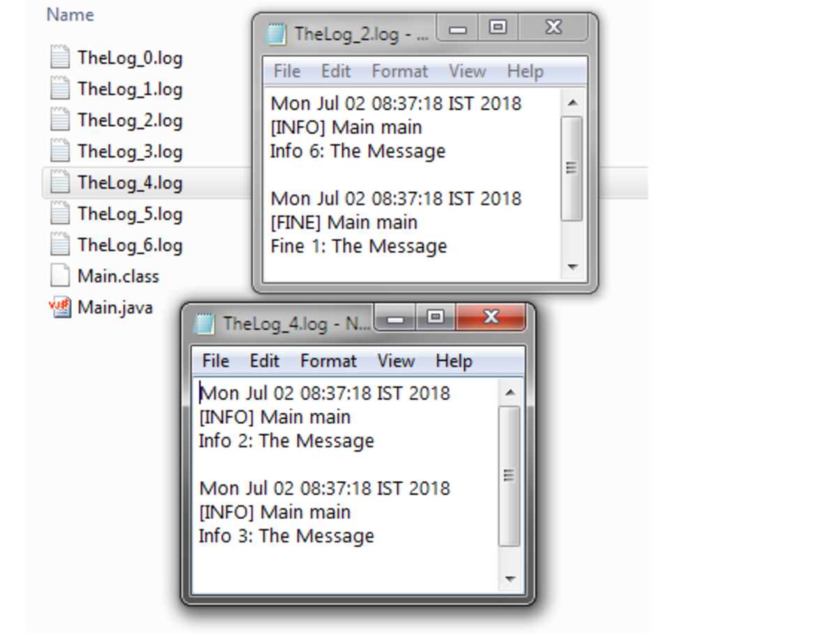 Rotating Set of Log Files