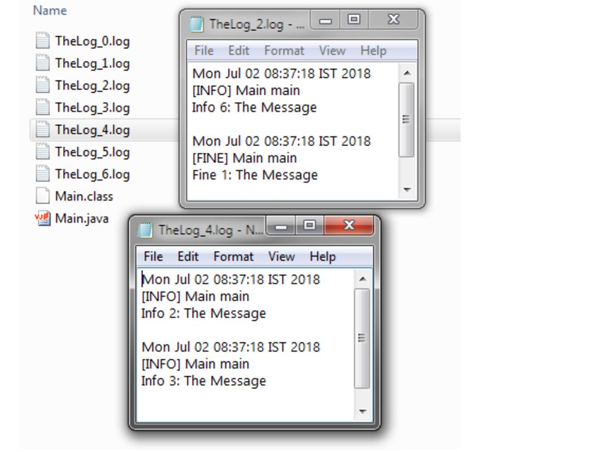 Rotating Set of Log Files