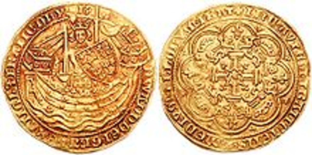 The coin commemorates the victory at Sluys