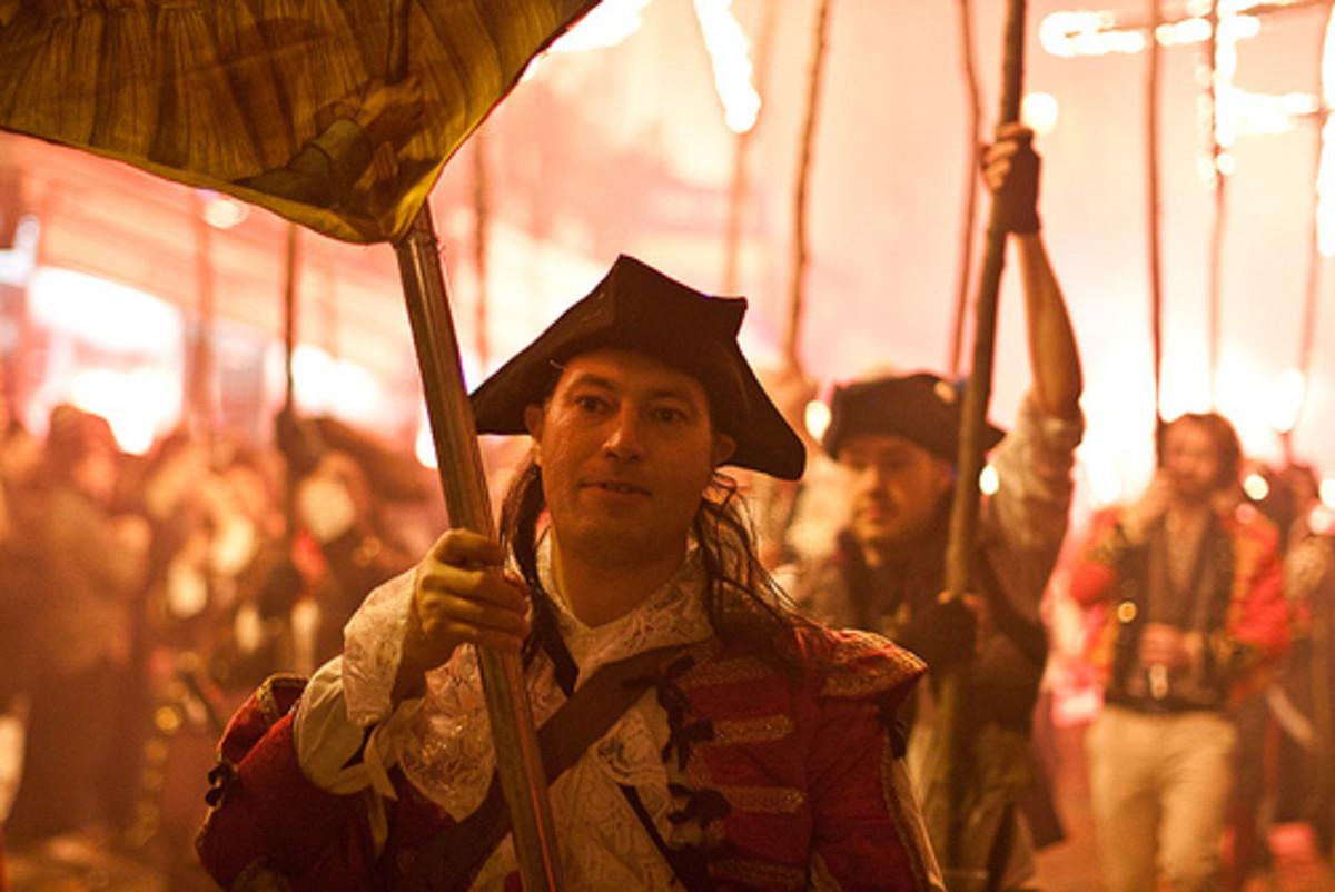 Guy Fawkes night celebrations.
