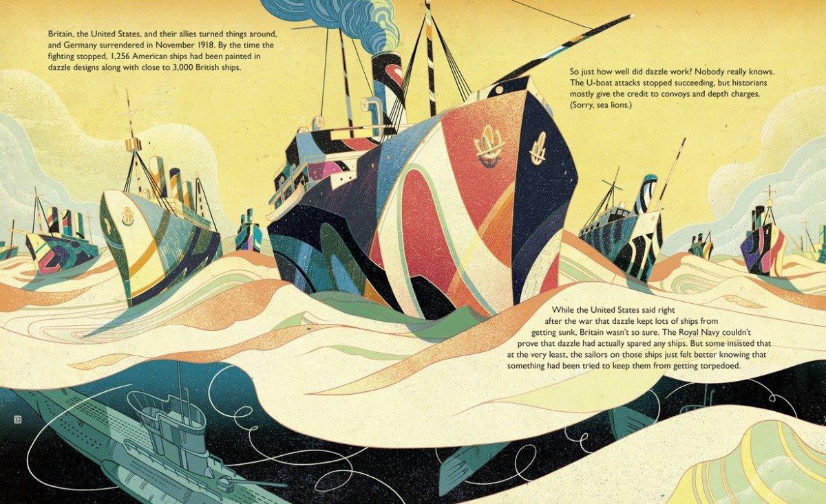Dazzle Ships- interior spread- by Chris Barton