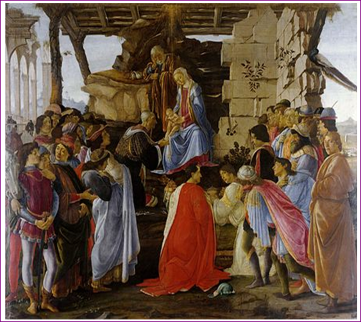 Adoration of the mag is a painting that was made in 1475 by Sandro earlier in his career. The work is displayed in Uffizi in Florence; it is one of the paintings that gained popularity. The image reveals two aspects of Sandro's life; his bac