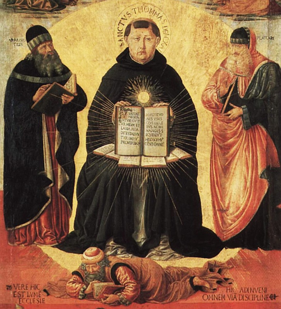 """Detail from """"Triumph of St. Thomas Aquinas over Averroes"""" by Benozzo Gozzoli (1420–97)"""