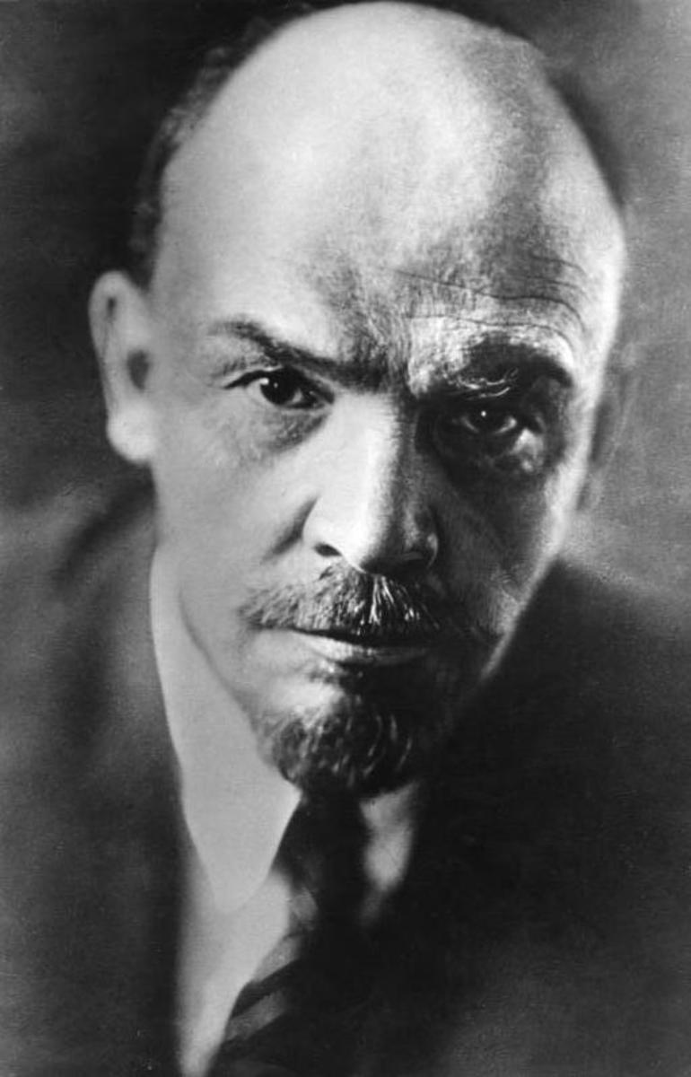 Famous portrait of Lenin.