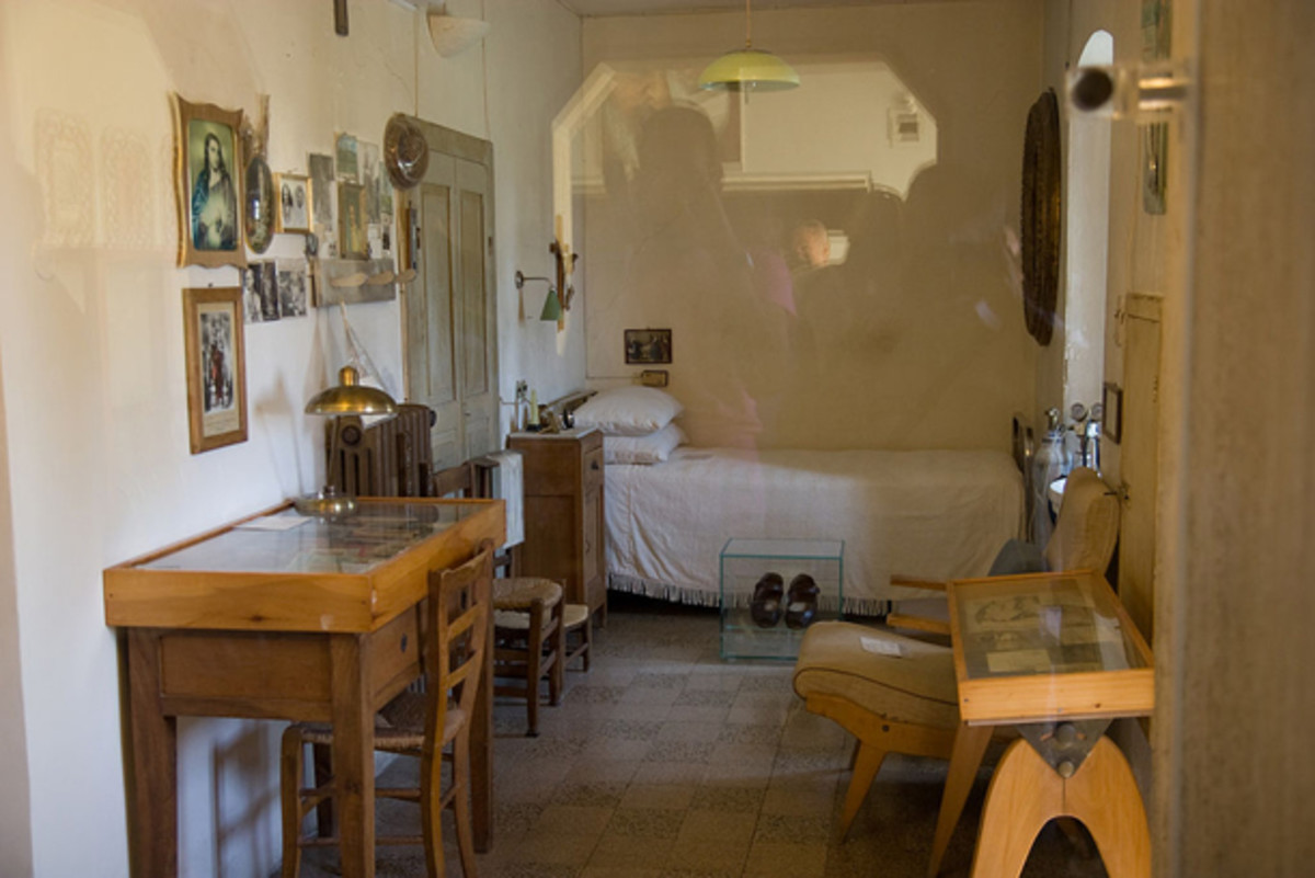 This is Padre Pio's cell or bedroom at the friary.