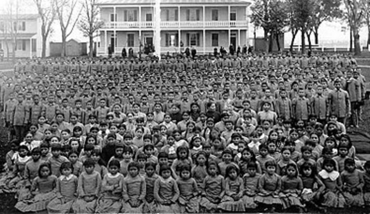 "Native children were rounded up by the thousands and placed in boarding schools where they were subjected to unforgivable indignities and horrendous abuses. Much of this was done openly, as a means to ""civilize"" the ""savage"" children."