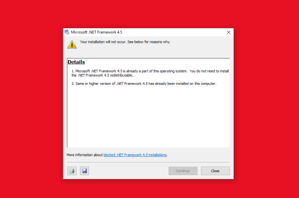 If you already have the .NET installed, the installer will let you know.
