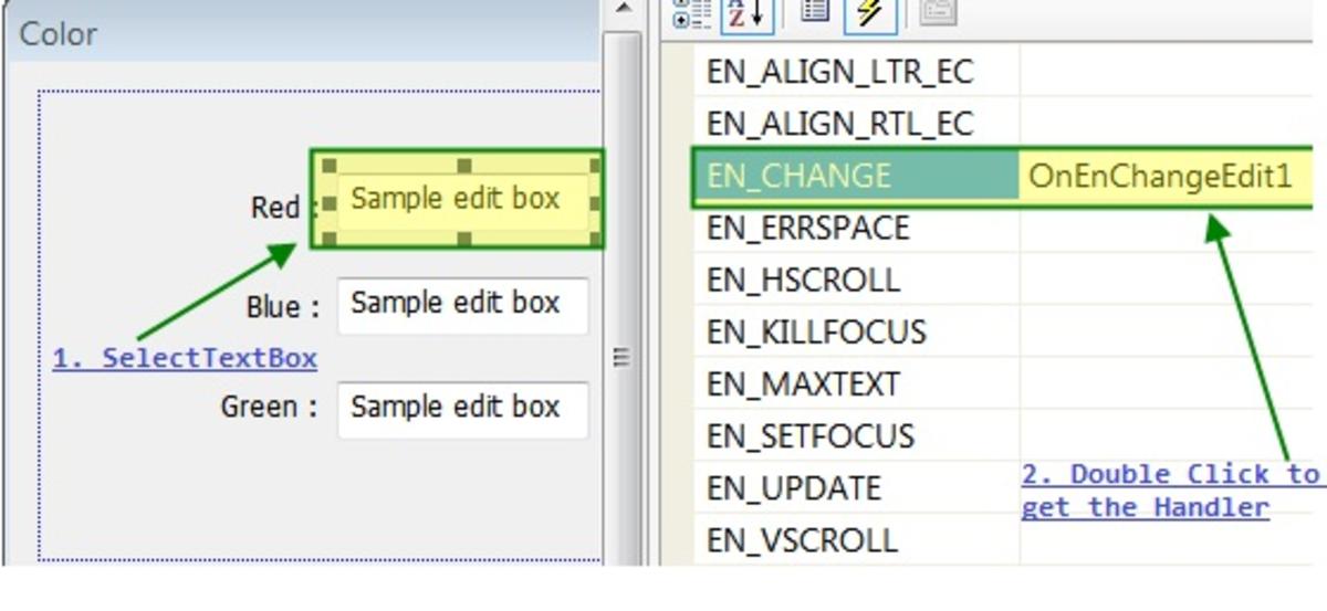 EN_CHANGE Handler For Text Boxes