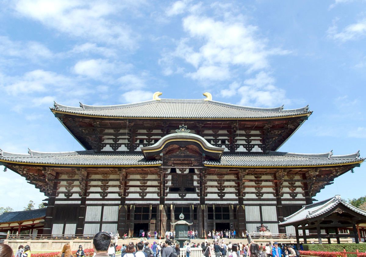 Majestic Tōdai-ji. Nowadays the most visited attraction in Nara City.