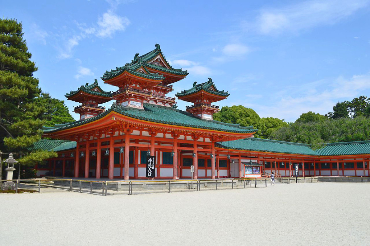 Kyoto's Heian Shrine gives a hint of the peaceful albeit decadent years of the Heian Period.