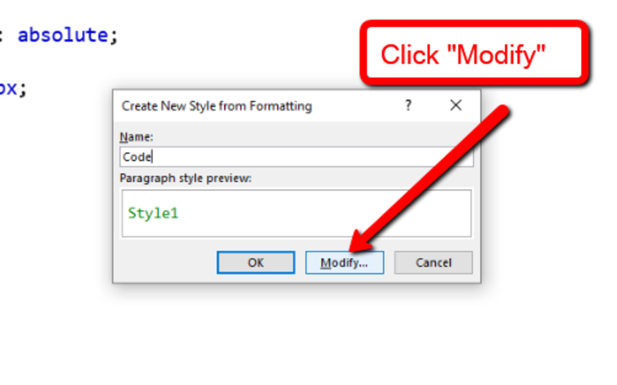 "Click on the ""Modify"" button."