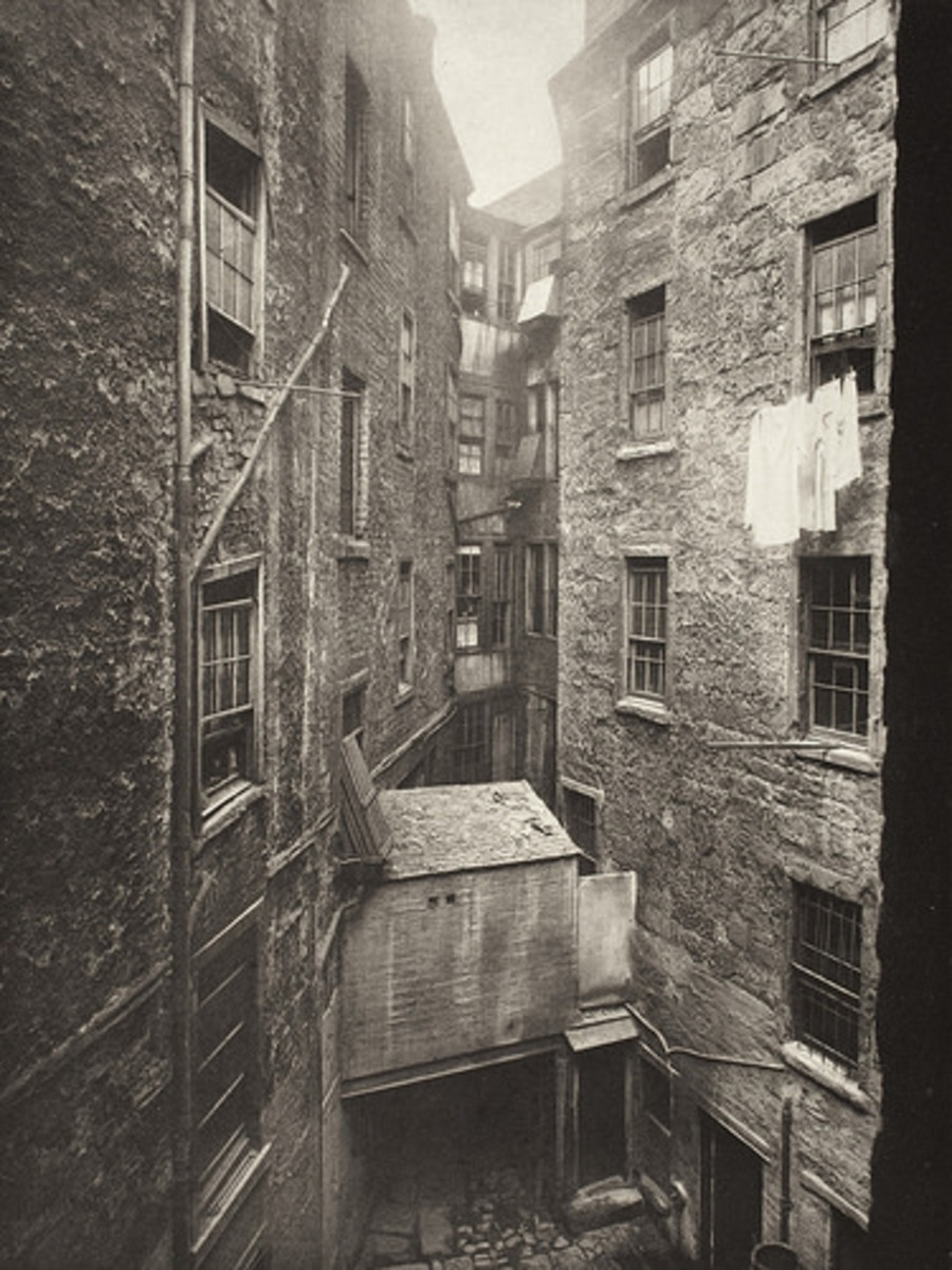 The cramped quarters of the Gorbals.