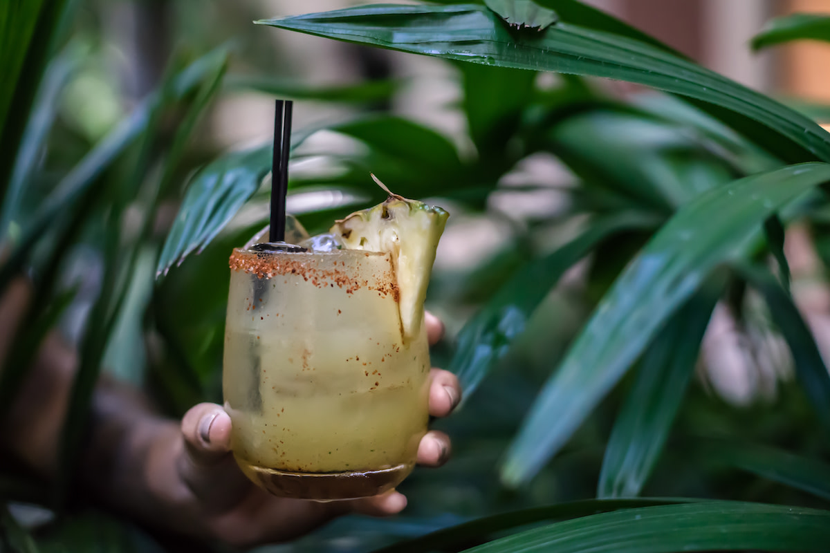 A pineapple cocktail