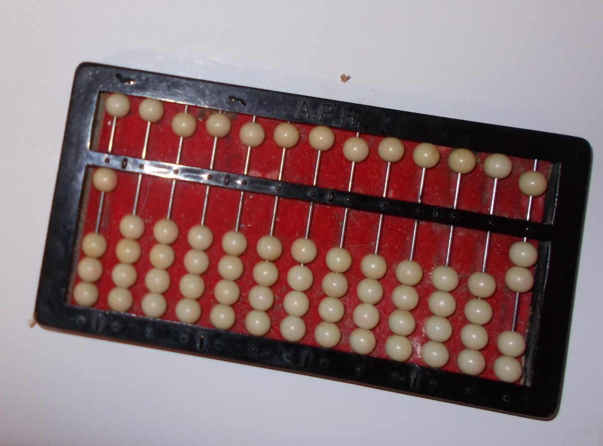 This abacus shows ½.