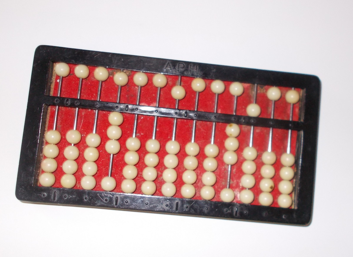 This abacus shows 3/35.