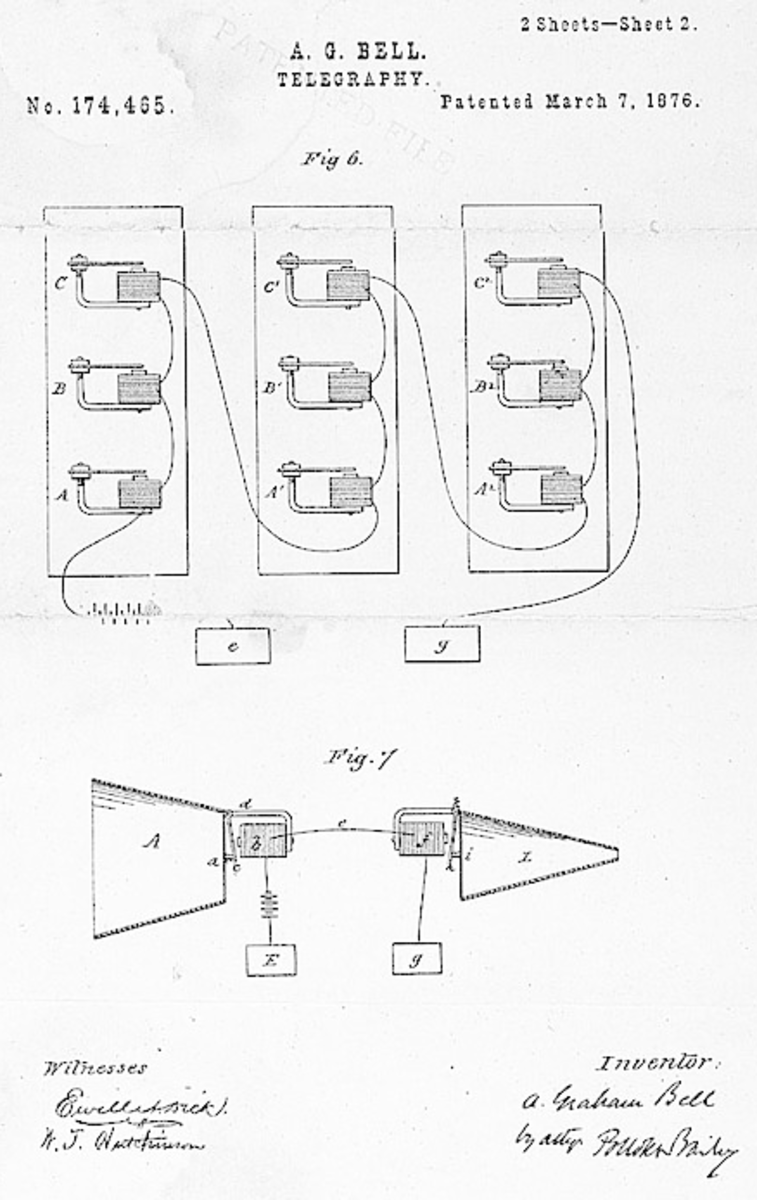 Bell's telephone patent.