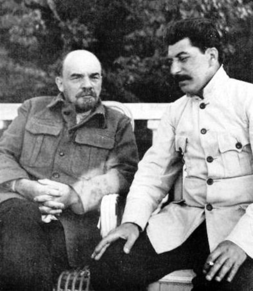 Vladimir Lenin and Joseph Stalin.