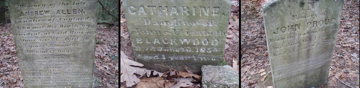 A closer look at the gravestones.