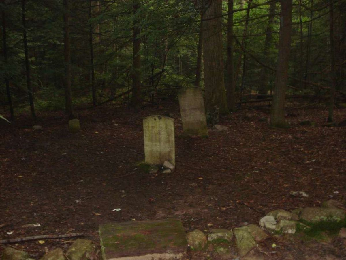 The three remaining gravestones at Rausch Gap.