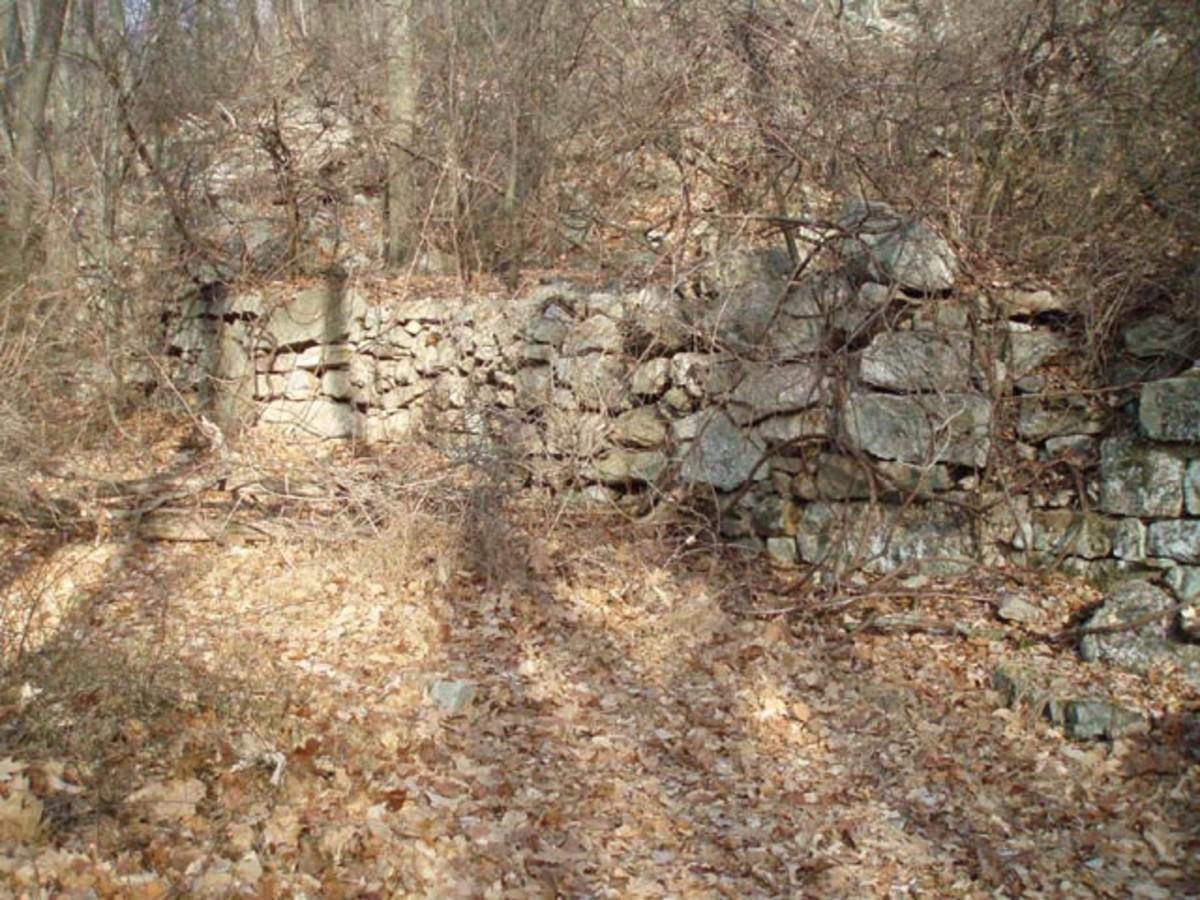 Stone wall ruins at Rausch Gap
