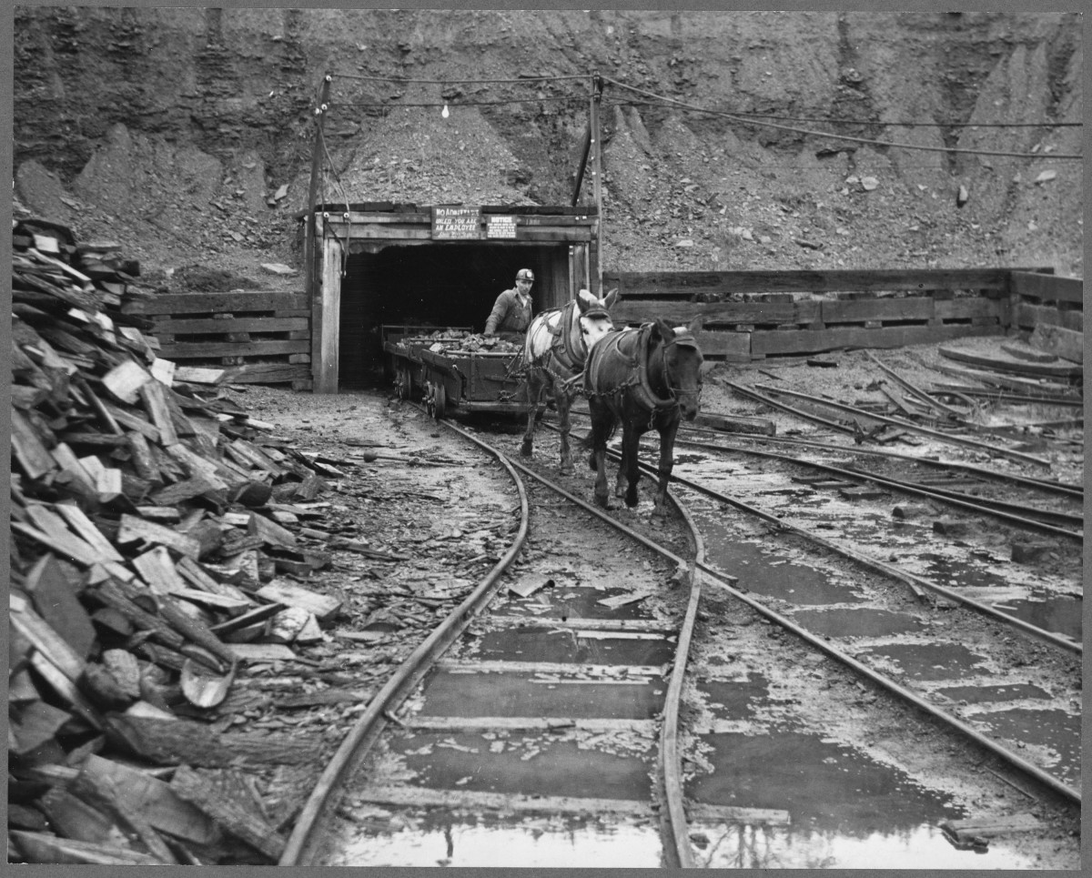 A typical coal mine in 1800's Pennsylvania.