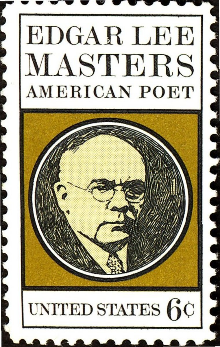Edgar Lee Masters - Commemorative Stamp -  US Postal Service