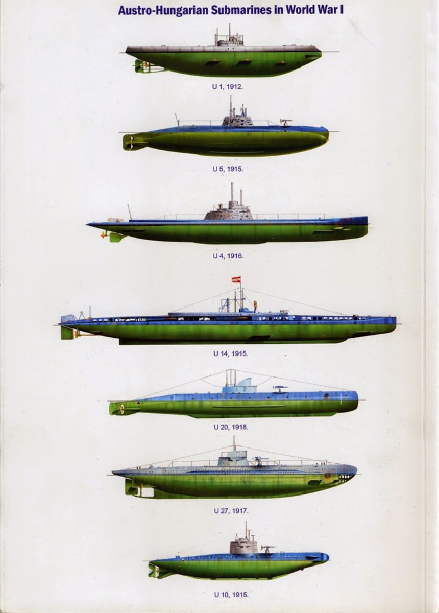 Various Austro-Hungarian submarines