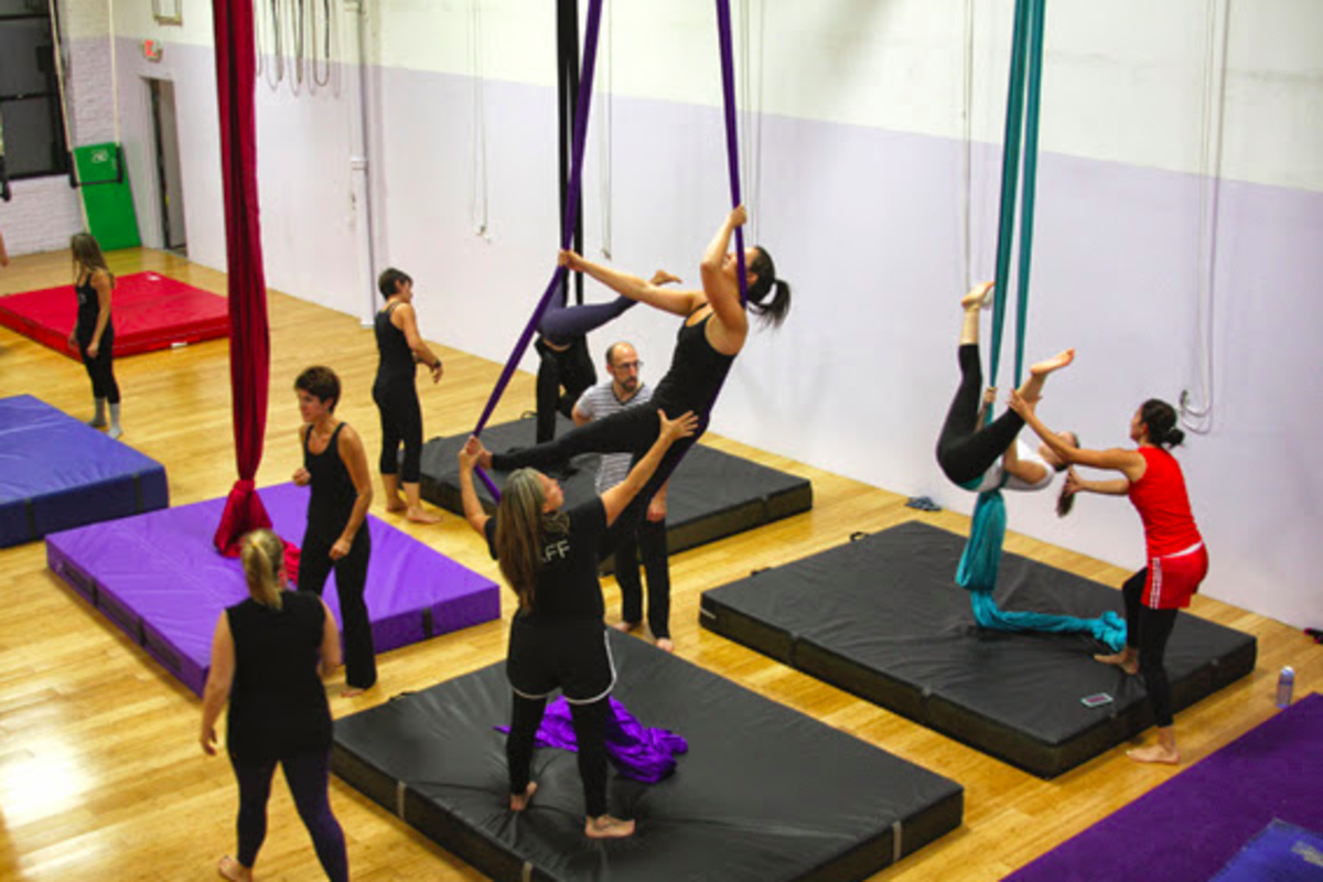 Learning the silks at Circus School