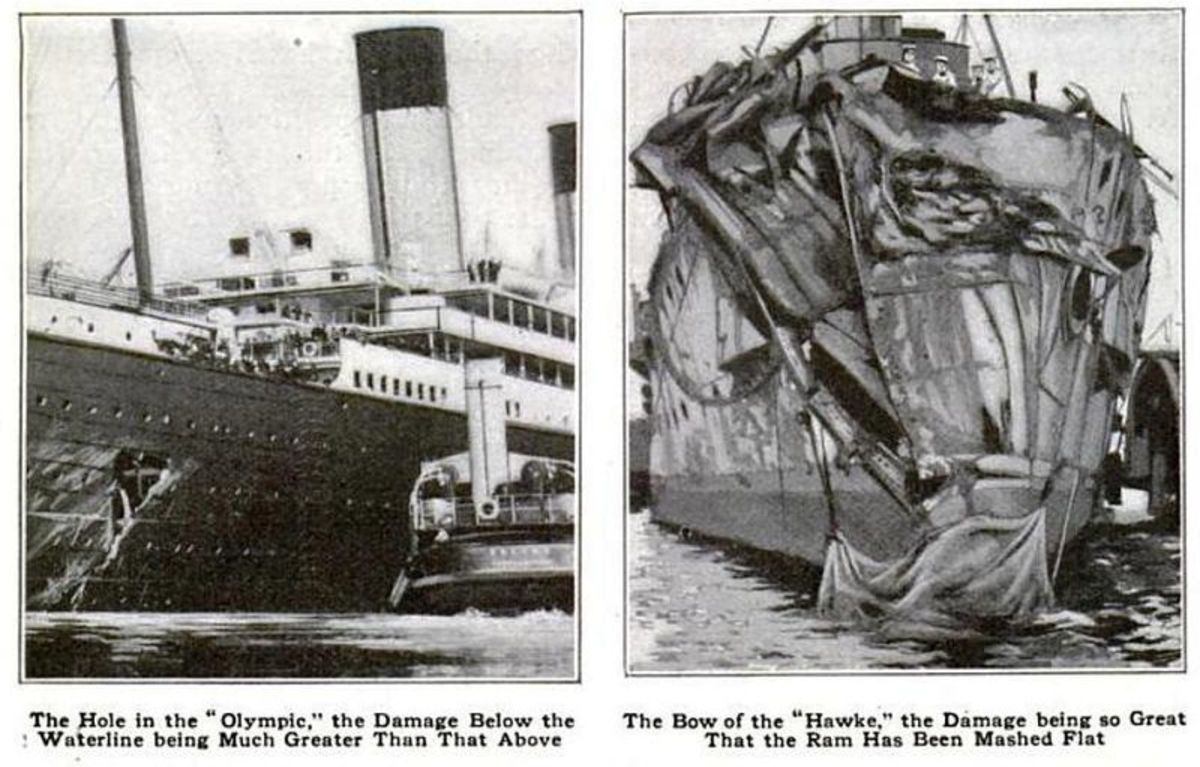 The damaged ships.