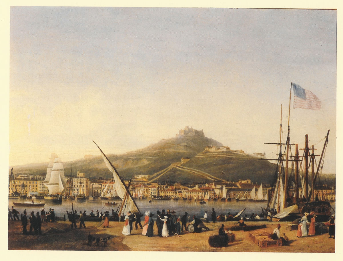 Marseille in 1820: somewhat later, but still clearly recognizable.