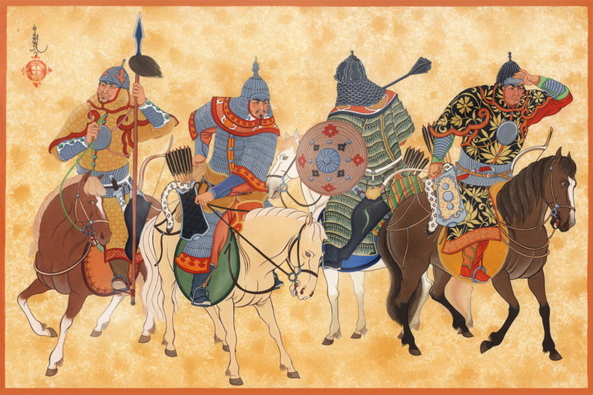 Mongol Cavalry. They may be sitting on some precursor burger patties there.