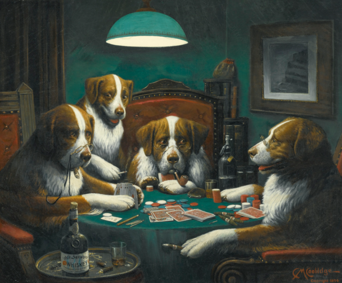 Poker Game by Cassius Marcellus Coolidge