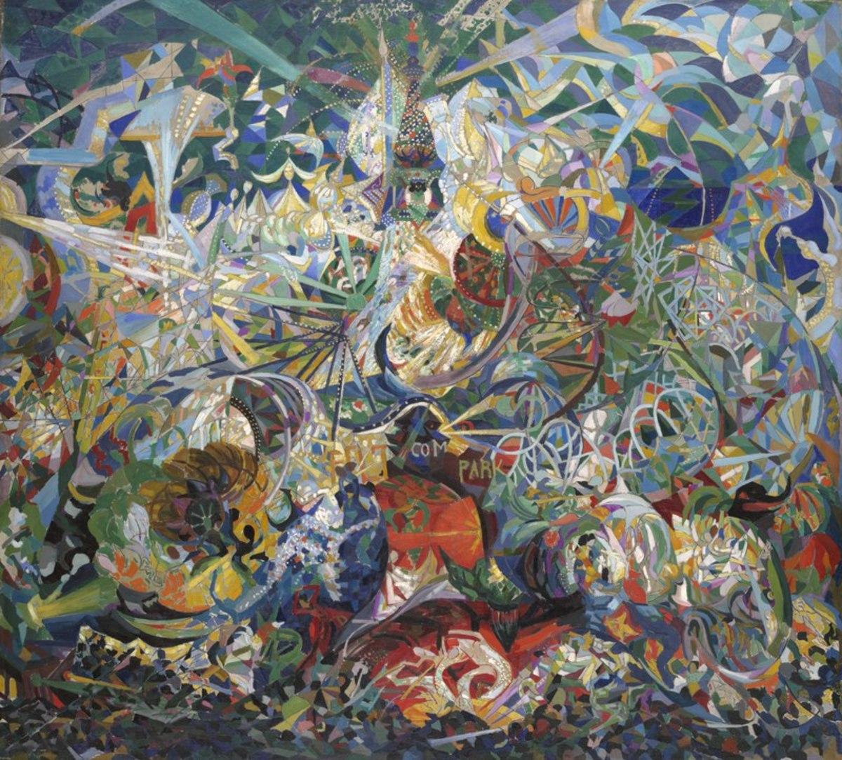 Battle of the Lights, Coney Island by Joseph Stella