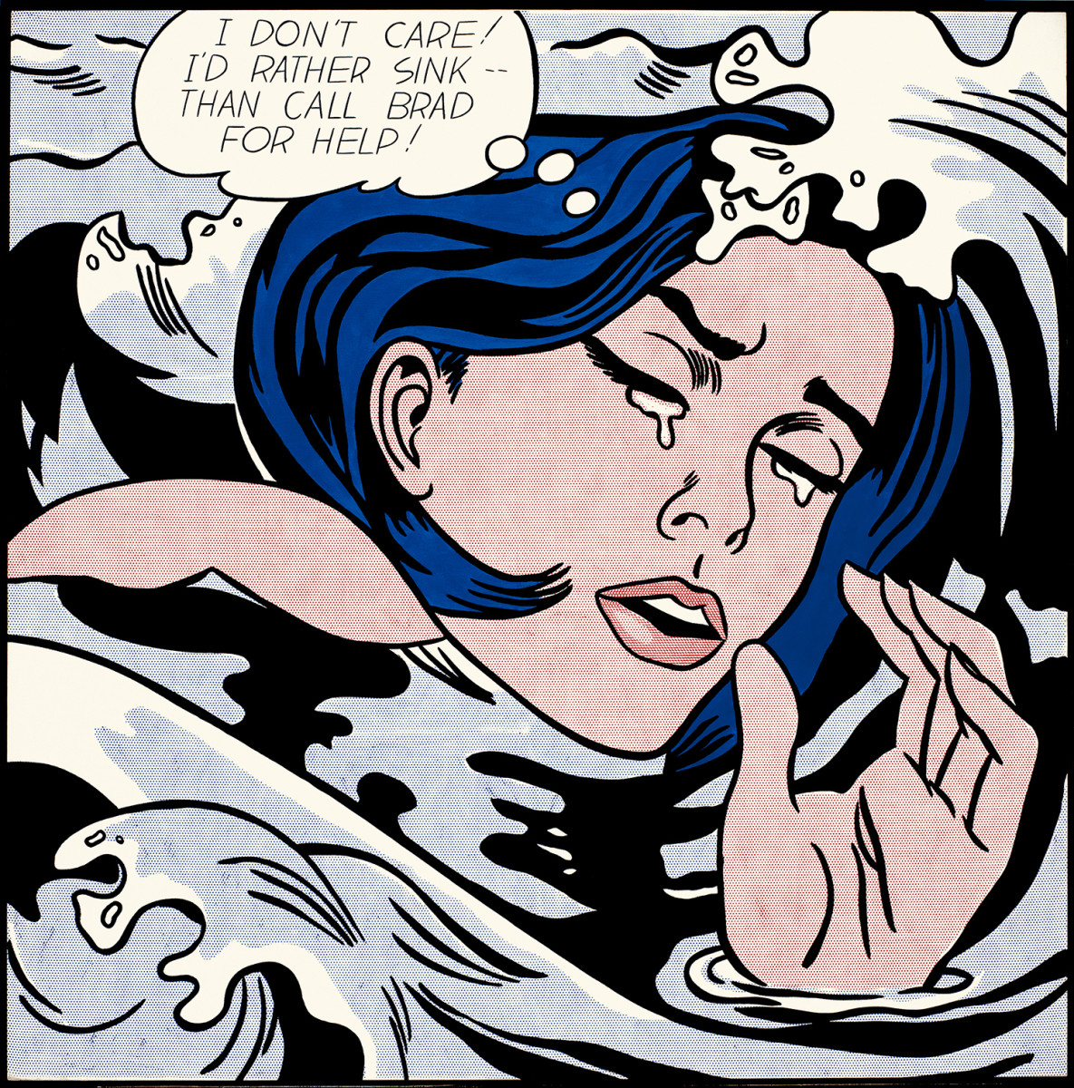 The Drowning Girl by Roy Lichtenstein