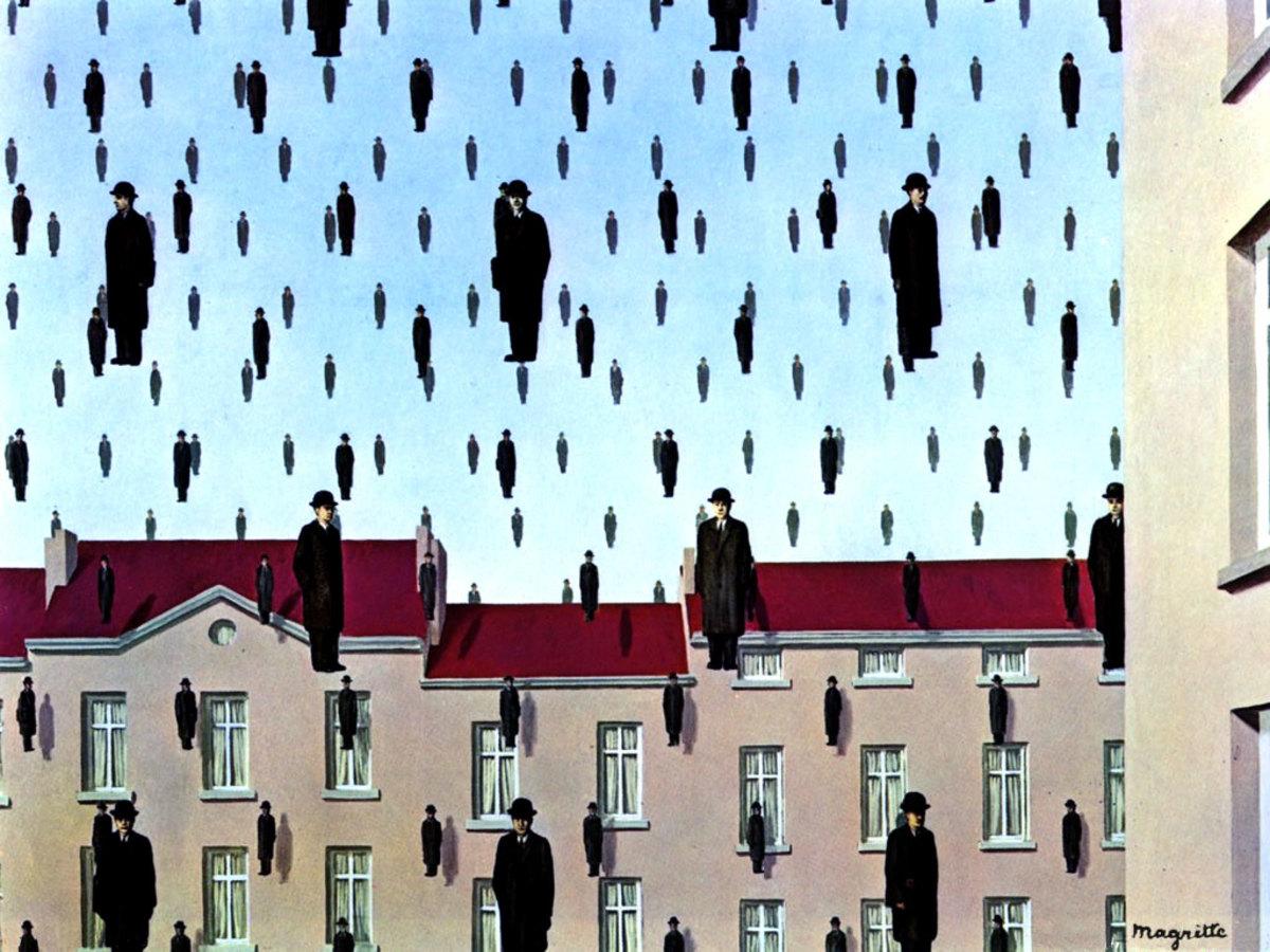 Golconda by René Magritte