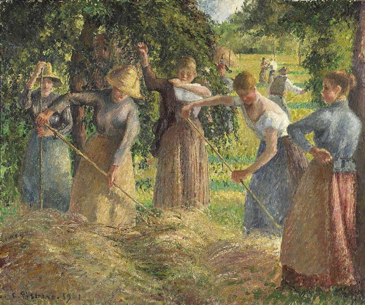 Hay Harvest at Éragny by Camille Pissarro
