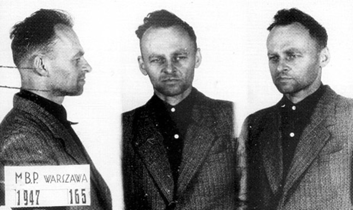 Witold Pilecki looking gaunt after having a rough time at the hands of the Communist secret police.