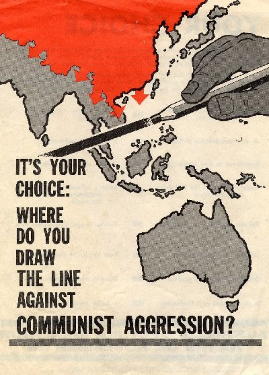 1966 Liberal Party Election Poster in Nichols, T. (Ed.).   Anti-Communist propaganda advocating containment.