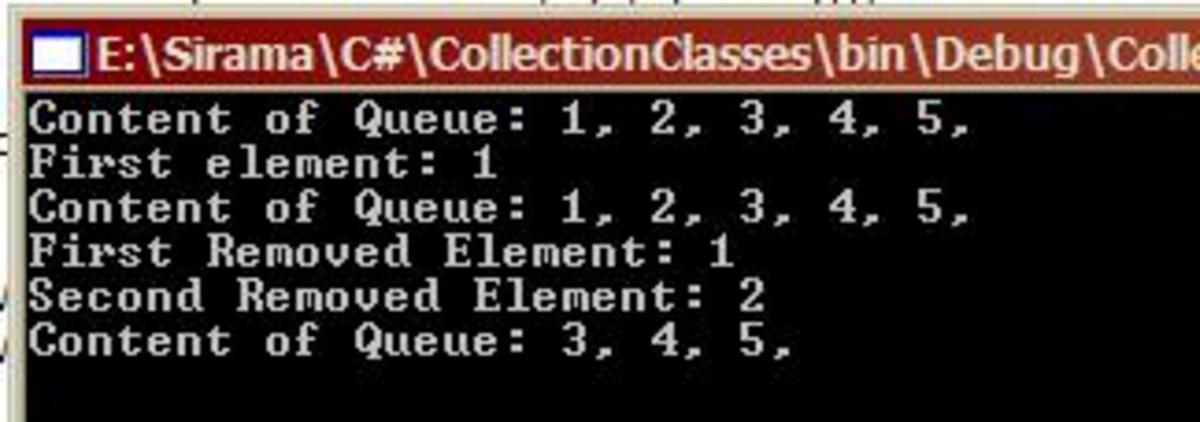 C Sharp Queue Example
