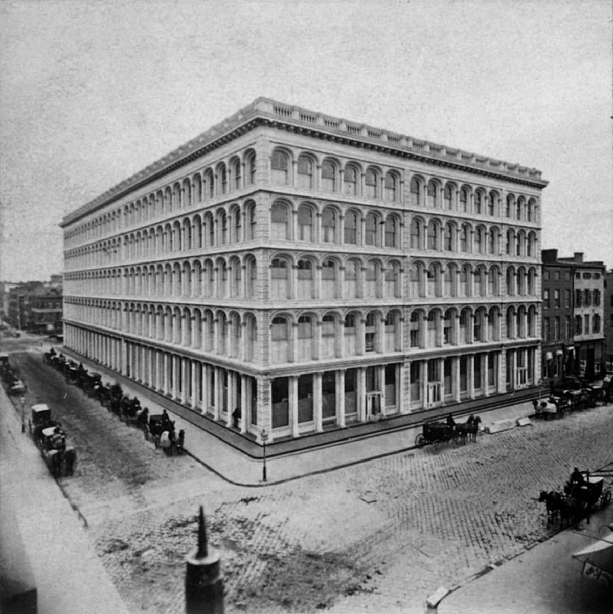 "A.T. Stewart's ""Palace"" built in 1862 at Broadway and 10th Street."