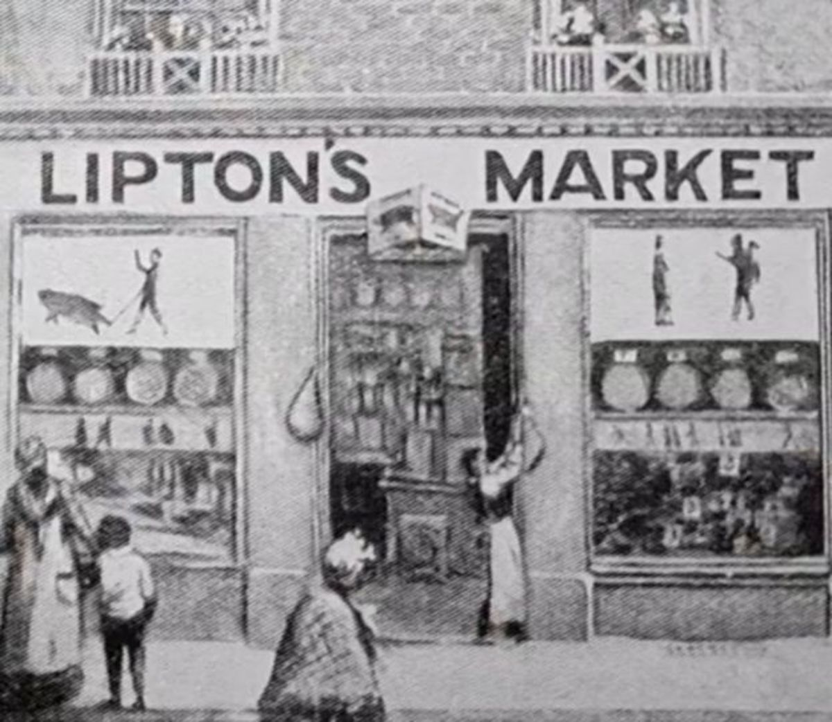 Tommy Lipton's first store.