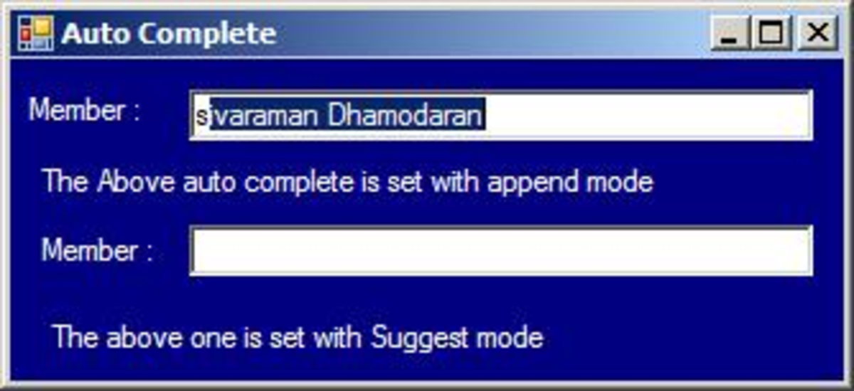 Auto Complete TextBox Append Mode