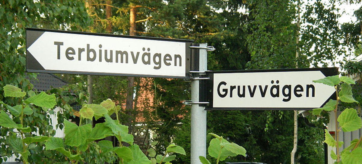 Ytterby, Sweden, holds the record for the town that has the most elements named after it. Yttrium, Ytterbium, Erbium and Terbium all get their names after this one little town!