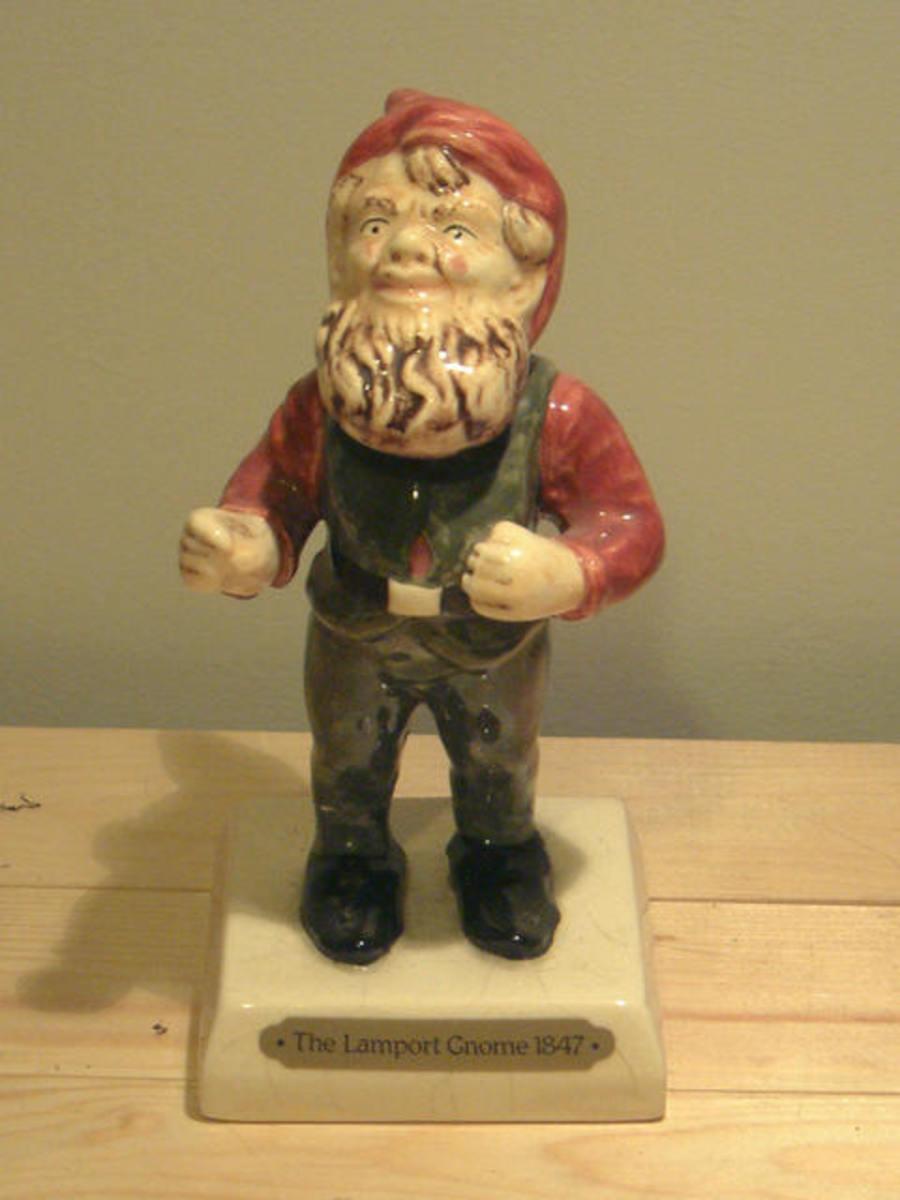 A replica of Lampy, the Lamport gnome.